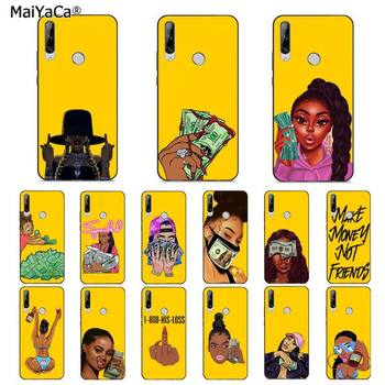 MaiYaCa Funny MONEY Cash Black Head Girl Fundas Candy Yellow Phone Case for huawei Y 7S 7 PRO 9 6 Y5 PRIME 2018 Y7 9 5 6PRO 2019 image
