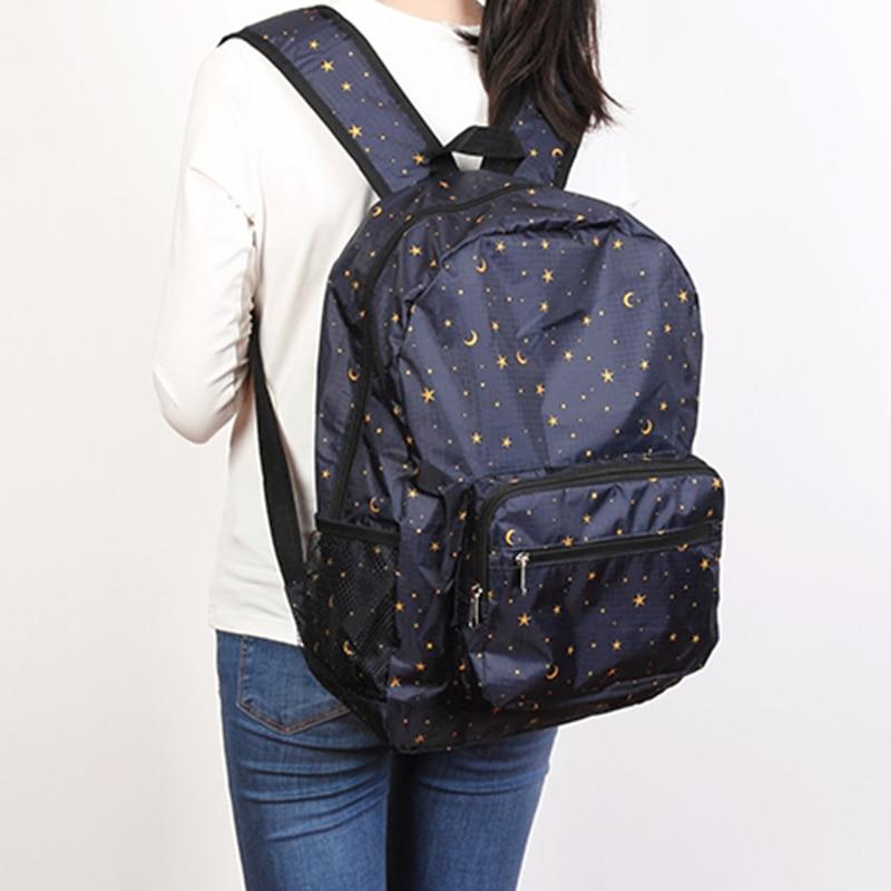 Lightweight Cartoon Foldale Backpack Portable Outdoor Sport Daypack Nylon Waterproof Travel Bag Unisex Washable Backpacks