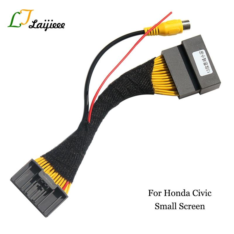 32-контактный адаптер-кабель для Honda Civic 2011 2012 2013 ~ 2016, 5-дюймовый экран/RCA камера заднего вида в автомобиль, оригинальный видео вход, штекер