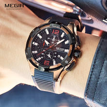 Часы наручные megir мужские с хронографом роскошные брендовые