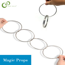 4pcs Magic Toy Metal Rings Classic Linking Iron Hoops Fun Magic Trick Playing Props Toys Tools close-up magic tools supplies ZXH
