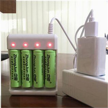 AA/AAA lithium-ion rechargeable Battery USB 4 Slots Intelligent Battery Charger High Quality