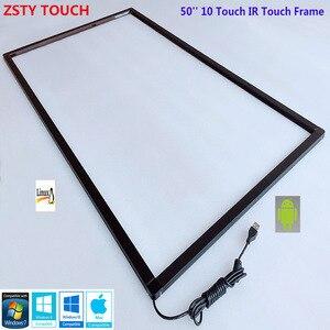 ZSTY Touch 50 дюймов IR сенсорная рамка 10 точек usb инфракрасный сенсорный экран панель сенсорный экран Накладка для сенсорного экрана монитора