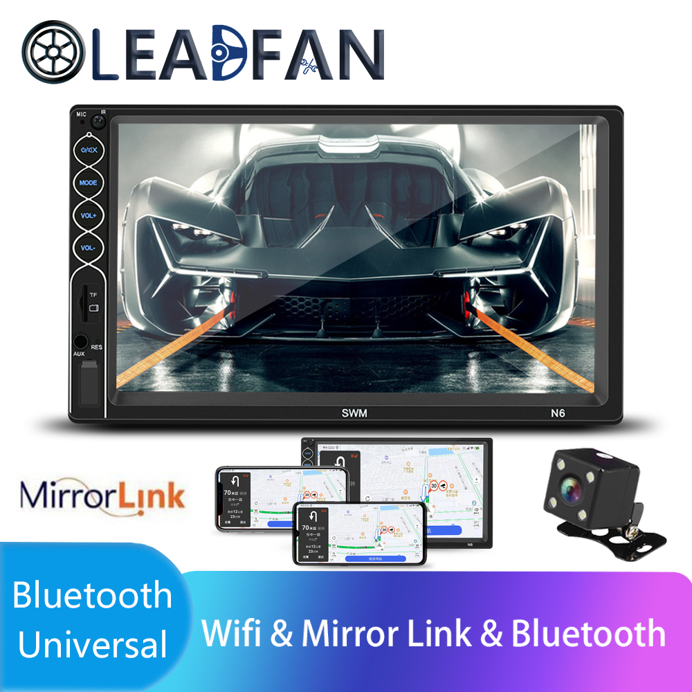 Leadfan Autoradio 2 Din 7 LCD Touch screen car radio bluetooth Multimedia auto audio stereo Mirror Link Steering Wheel Control image