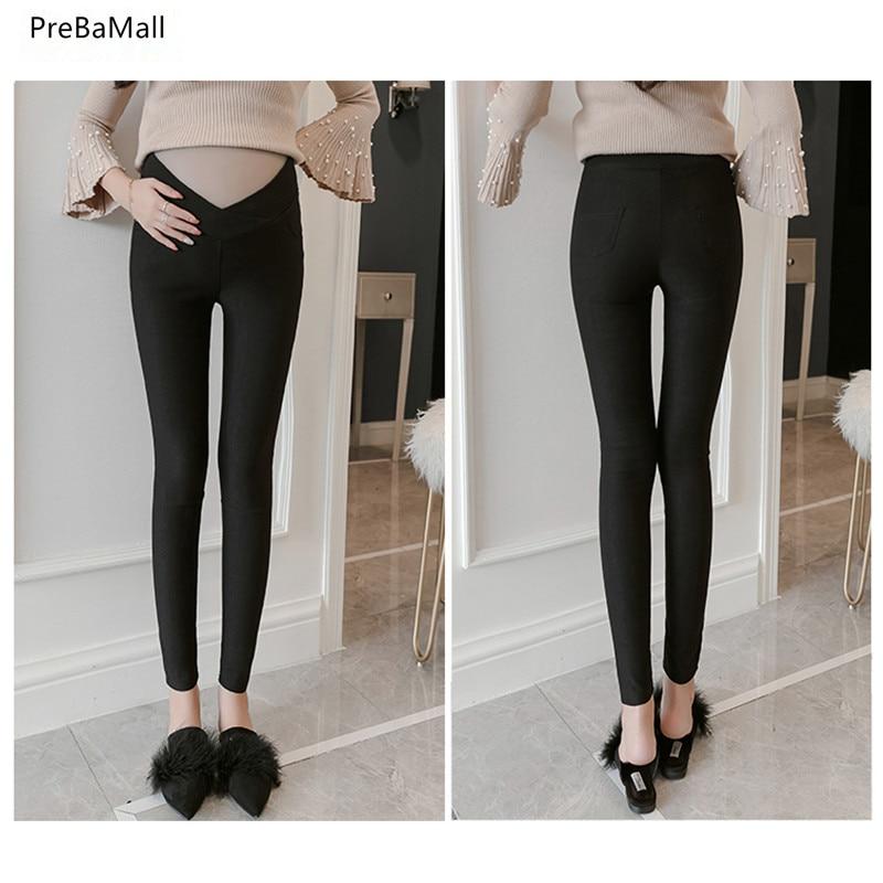 Maternity Leggings Low Waist Pregnancy Belly Pants For Pregnant Women Maternity Nursing Trousers Maternity Clothing E0087