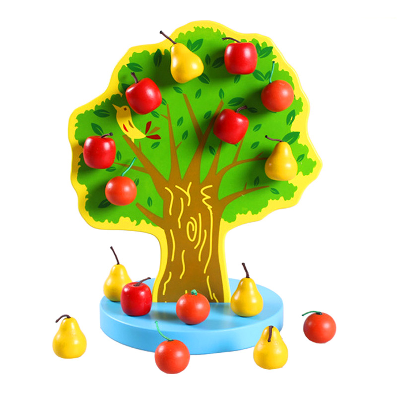 Montessori Hand Tree Baby Montessori Early Childhood Educational Toy Magnetic Unisex Flexible Wooden Toys Motion Training