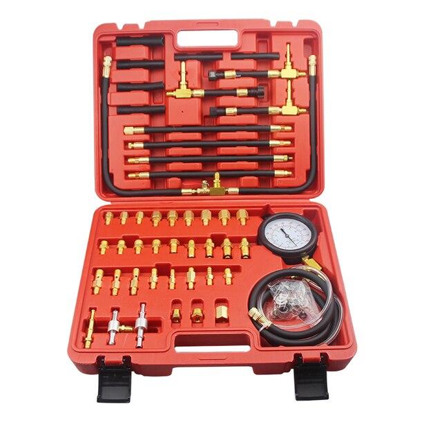 Neue TU 443 Deluxe Manometer Kraftstoff Manometer Motor Injection Prüfung Kits