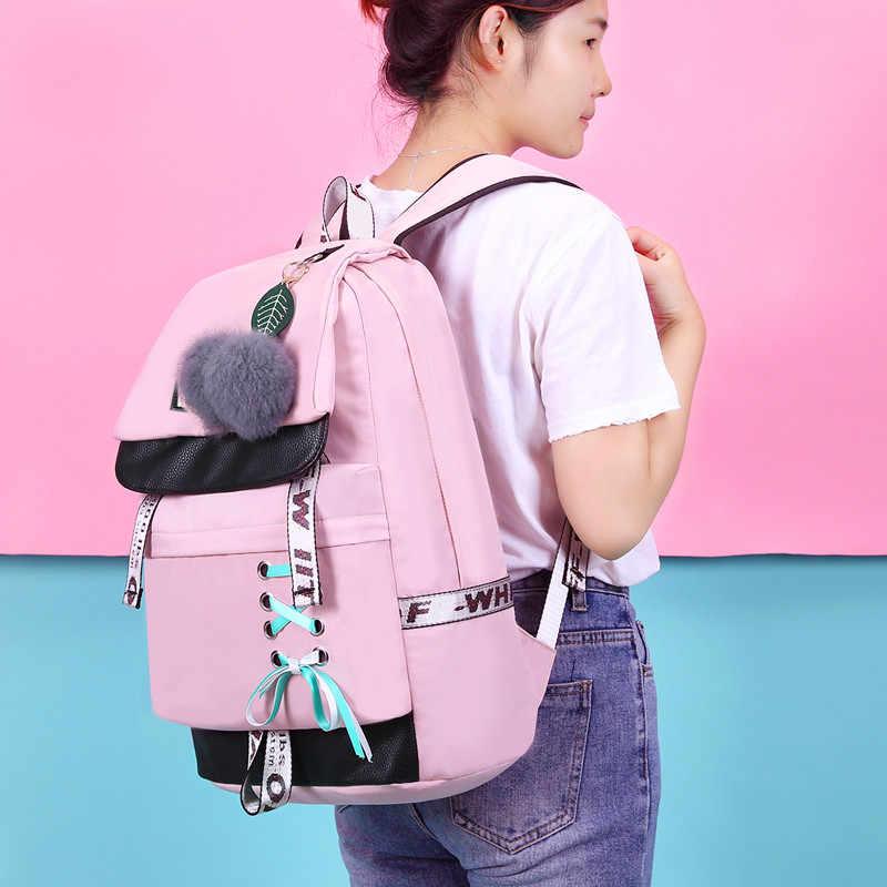 Fengdong sacchetti di scuola per le ragazze adolescenti bambini svegli del fiore zaino scuola femminile nero floreale bambini zainetto bookbag regalo della ragazza