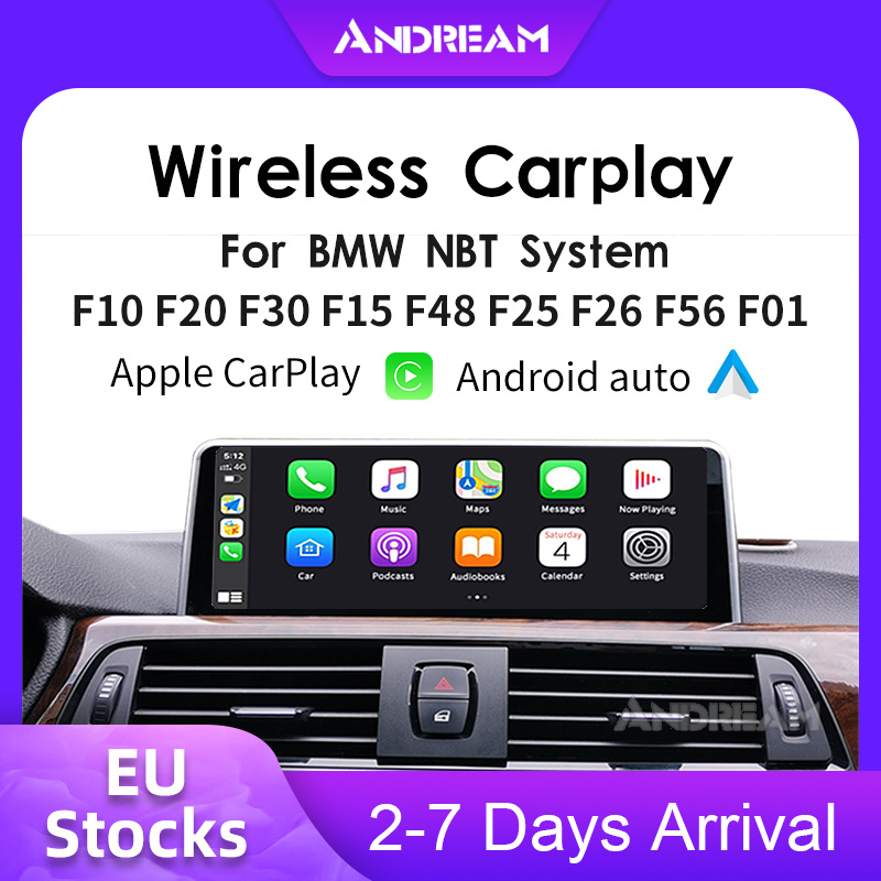 Andream WIFI Wireless Apple Carplay Box Android Auto for BMW NBT System 1 2 3 4 5 7 Series X3 X4 X5 X6 MINI F10 F15 F16 F30(China)