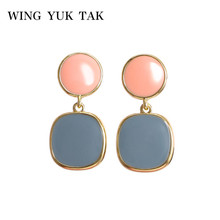 wing yuk tak Korean Candy Earrings For Women Trendy Statement Drop 2019 Jewelry
