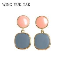 wing yuk tak Korean Candy Earrings For Women Trendy Statement Drop 2019 Jewelry
