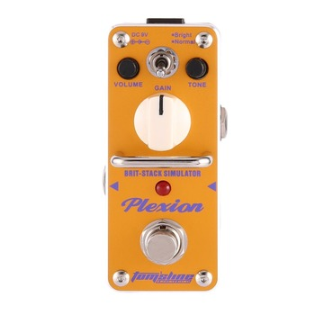 Aroma APN-3 Plexion Brit-stack Sound Effect Pedal Mini Electric Guitar Equalizer Digital True Bypass Simulator Guitar Parts mooer mini classic optical electric compressor effect pedal yellow comp true bypass with smooth attack and decay sound