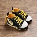 Черные детские кроссовки для новорождённых с Бэтменом; обувь для новорожденных мальчиков и девочек с мягкой подошвой; мокасины для малышей