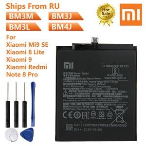 Xiao Mi Original Phone Battery BM3M For XiaoMi Mi9 SE Mi 9 SE BM3J MI8 Lite BM3L Xiaomi 9 MI9 M9 MI 9 BM4J Redmi Note 8 Pro(China)