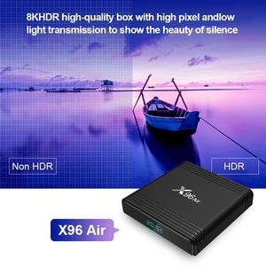Image 3 - Android 9.0 X96air akıllı TV kutusu Amlogic S905X3 2.4G & 5G çift Wifi x96 4K Youtube Google oyun medya oynatıcı pk h96 hk1max