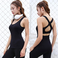 New cross back sexy sports vest quick drying thin chest pad steel ring no steel ring lady bra bra