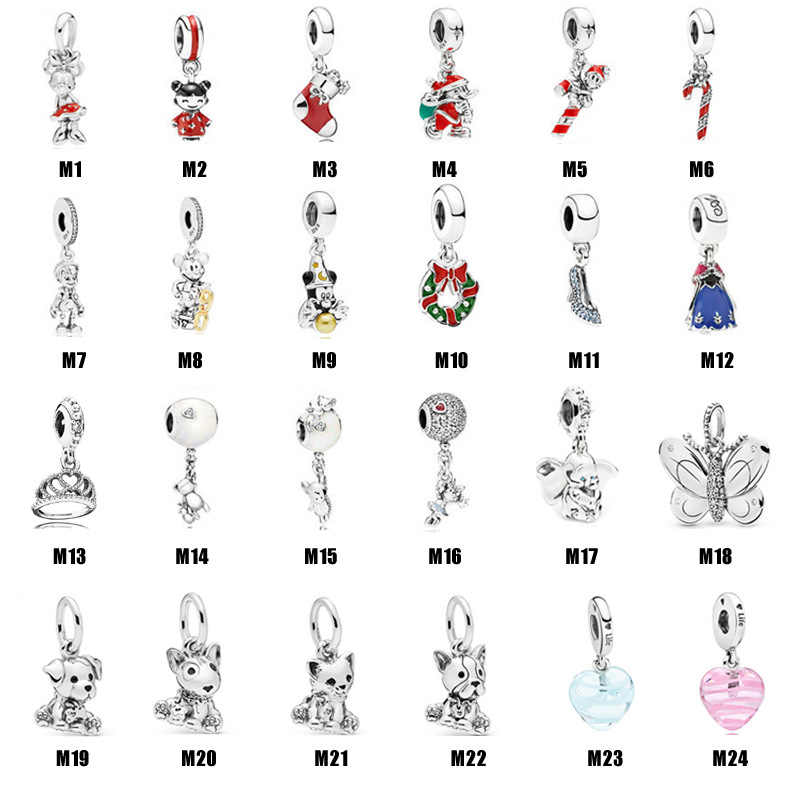 New fashion S925 Pandora beads fit for bracelets Disney pet series dream fresh love simple women string ornaments DIY gift