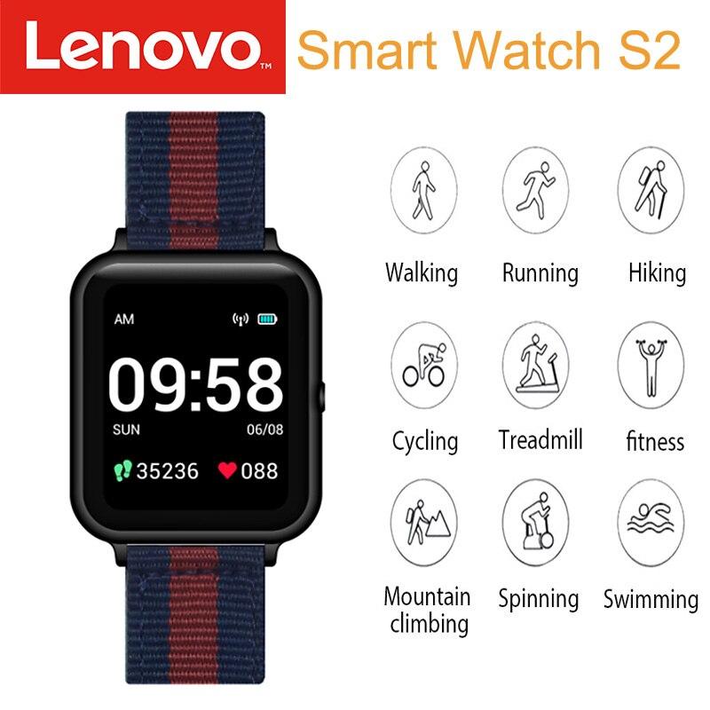 Умные часы глобальная версия Lenovo S2, 1,4 дюйма, 240x240p, фитнес-трекер, трекер калорий, шагомер, монитор сна, монитор сердечного ритма
