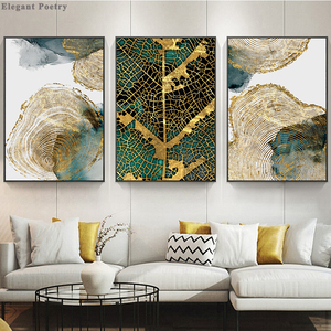 Leaf and Trunk Texture Abstract Wall Art Canvas Poster Print Nordic Decorative Picture Painting Modern Living Room Decor
