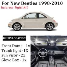 5-кратный автомобильный фсветильник рь для чтения карты для 1998-2010 VW, новый купол bettles для багажника автомобиля, лампа для перчаточного ящика
