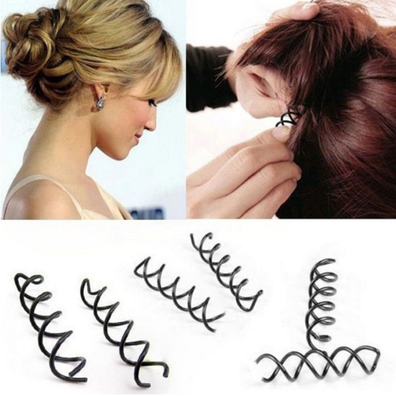 2pcs New Hair Accessories Women Spiral Spin Screw Twist Barrette Headwear Hair Accessories hair styling tools