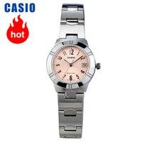 카시오 시계 포인터 시리즈 간단한 달력 쿼츠 여성 시계 LTP-1241D-4A3
