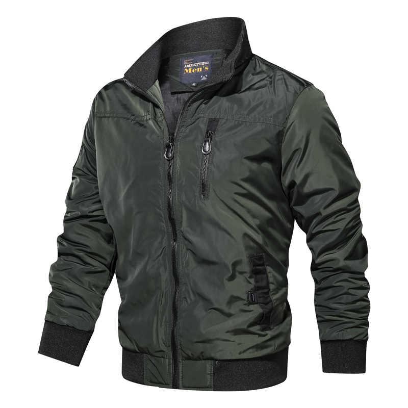 Новинка 2019, мужские куртки, осенне-зимние военные Пальто, модная армейская Повседневная Верхняя одежда, мужская куртка-бомбер, мужские пальто, брендовая одежда