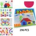 296 шт. красочного гриба ногти Pegboard головоломки комплект интеллигентая (ый) 3D игра мозаика с возможностью креативного самостоятельного выбор...