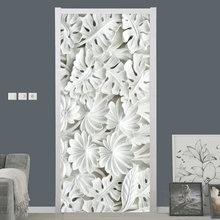 Самоклеящаяся наклейка на дверь 3d стерео белый лист гипса обои