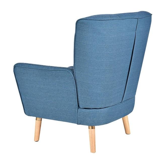 Birch Wooden Legs Accent Leisure Sofa Arm Chair  4