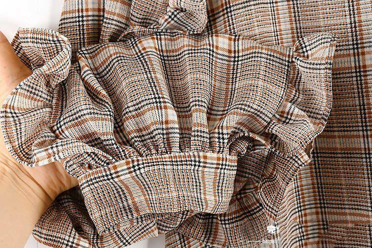 SuperAen платье с длинными рукавами женское осеннее 2019 Новое хлопковое повседневное женское платье в клетку в Корейском стиле женская одежда