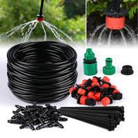 5 M-25 M マイクロ点滴灌漑キット DIY 点滴灌漑システムの庭の自動散水キットホース調整可能なドリッパー