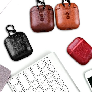 Luxury Leather CaseBluetooth Wireless Earphone Case For AirPods Protective Cover Skin Accessories for Airpods Charging Box image