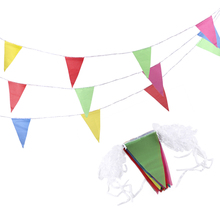 300 Pcs  Pennants Flag Birthday Party Christmas Holiday Hanging Decoration Natural Hessian Banner Rustic