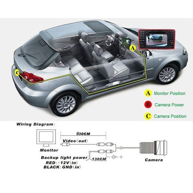 New Night Vision 120 Degree Car Front/Rear View Camera Reversing Backup Camera 5