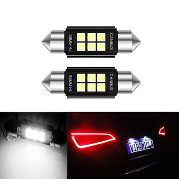 2x LED CANbus C5W Bulbs 3030SMD Interior Lights License Plate Light For Mercedes Benz W208 W209 W203 W169 W210 W211 W212 AMG CLK image