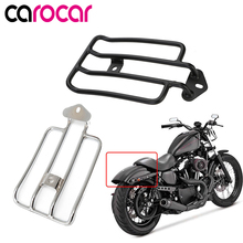 цена на CAROCAR Luggage Rack Support Shelf Fit For Stock Solo Seat For Harley Sportster Iron 48 883 XL1200 2004-2018 2015 2016 2017