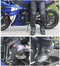 Professional Men Motorcycle Boots Biker Waterproof Speed Motocross Non-slip Protect Ankle Shoes