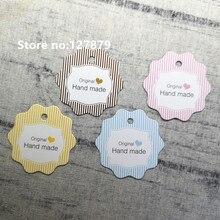 Gift-Labels Cardboard-Paper Hanging-Tags Handmade Garment Bag/Bottle Price for 50pcs
