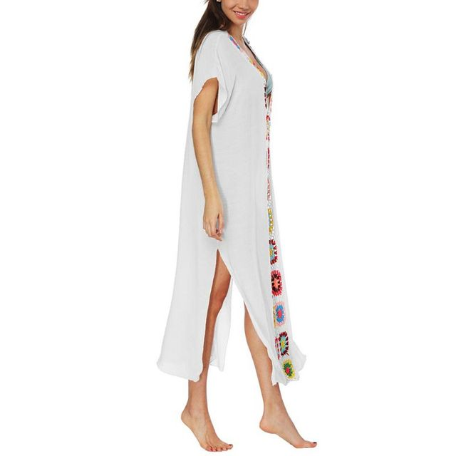 New Female Sexy Summer Fashion Women Dress Beach Dresses Women s See-through Hollow Out Beachwear Dress