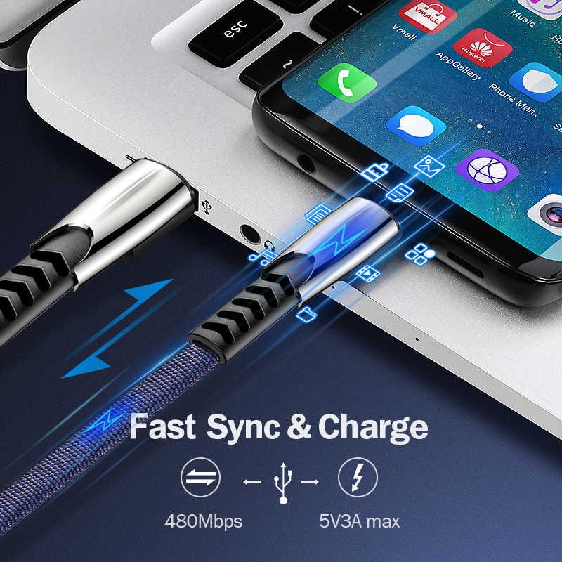 المصغّر usb الحبل نوع كابل C سلك USB سلك سريع تهمة لسامسونج USB-C نوع-C USBC 3M إلى محول المصغّر usb كابل C نوع مايكرو