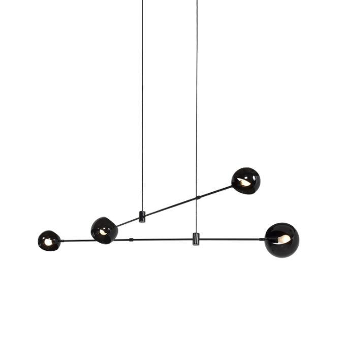 Işıklar ve Aydınlatma'ten Kolye ışıkları'de Iskandinav çizgi geometrik LED kolye ışık Wireflow tasarım asılı kolye lamba endüstriyel teller ayarlanabilir cilalar luminari title=