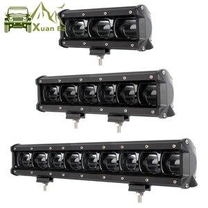 Image 1 - 6D עדשת Led אור בר מכביש עבור 4x4 Offroad 4WD טרקטורונים UAZ משאיות טרקטור סירת 12V 24V נהיגה עבודה Barra אורות רכב Retrofit