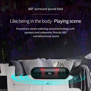 Image 2 - TG LED Bluetooth Outdoor Speaker Metal Portable Super Bass Wireless Loudspeaker 3D Stereo Music Surround With Mic FM TFCard Aux