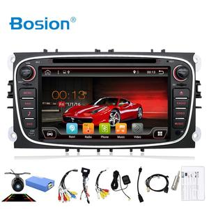 Bosion 2 din Android 10 Car dvd Player Gps Support SWC for Ford focus Mondeo S-max Smax Kuga C-max Car Radio Head Unit BT WIFI