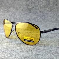 YOOSKE Nachtsicht Brille Männer Polarisierte Fahrer Nacht Fahren Sonnenbrille Männlichen Sicher Brille Gelb Objektiv Sonnenbrille Blendung