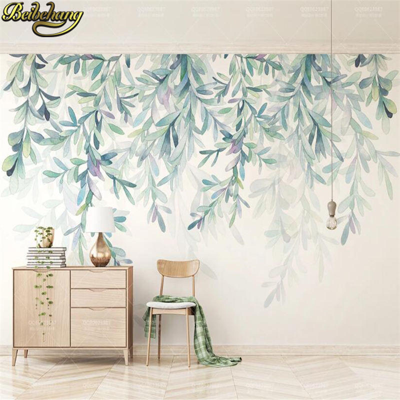Beibehang Custom 3d Wallpaper Mural Fresh Green Leaves Landscape Wall Painting Wall Papers Home Decor Papel Pintado De Pared