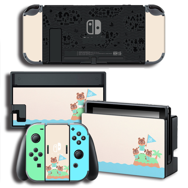 Skin Cover Sticker Wrap for Animal Crossing Stickers w/ Console + Joy con + TV Dock Skins for Nintendo Switch Skin Bundle