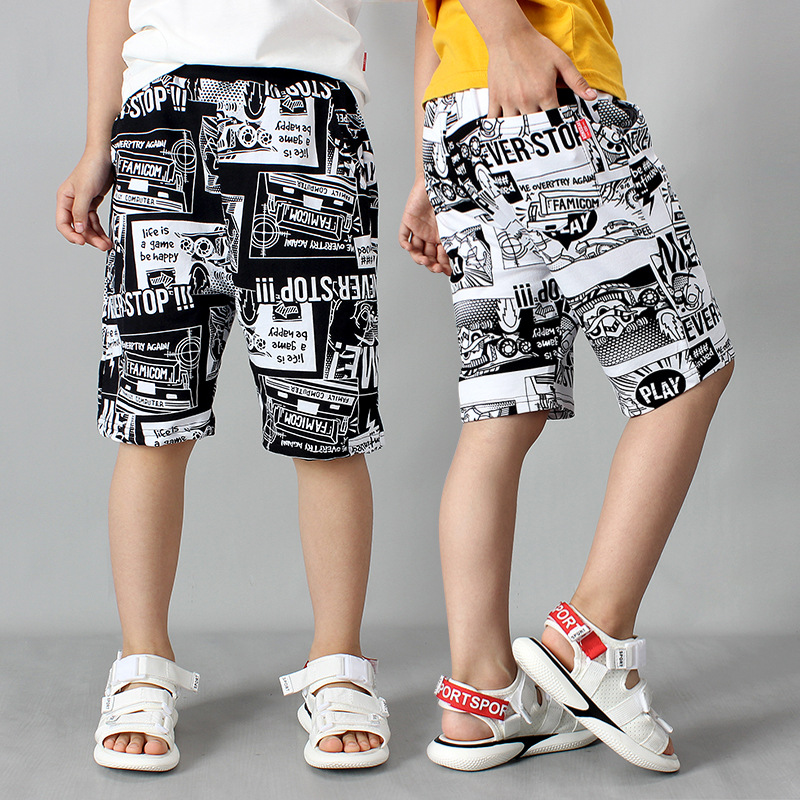 2021 Summer Baby Toddler Boy floral Clothes Fashion Cotton Teenager shorts Beach half five Pant Children 5 6 7 8 9 10 12 13 year