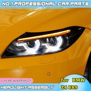 Image 4 - Faros led para coche BMW, faros delanteros LED para coche BMW Z4 E89 2006 2018, ojos angulares led drl H7 hid, lente bi xenón, haz bajo